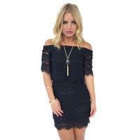 Kailani Lace Dress In Black