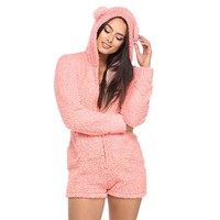 Women's Hooded Bear Onesuit