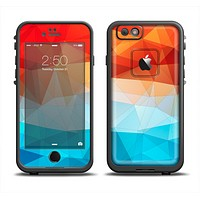 The Vector Abstract Shaped Blue-Orange Overlay Apple iPhone 6 LifeProof Fre Case Skin Set