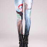 Alice in Wonderland Print Leggings