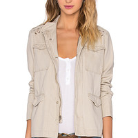 Pablo Lace Up Parka in Natural