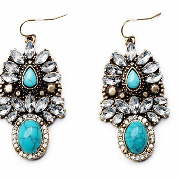 Bohemian Turquoise Drops
