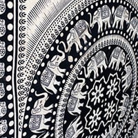 Click to open expanded view      Elephant Twin Mandala Tapestry Hippie Tapestry Mandala Tapestry Wall Hanging Wall Decor Home Decor (Tan7)