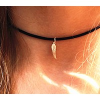 Angel wings necklace women Korean veneer robe necklace