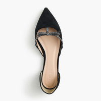SLOAN SUEDE D'ORSAY FLATS WITH MINI BOW