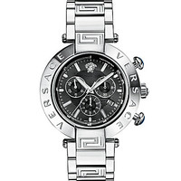 Versace Men's Reve Chrono Stainless Steel Chronograph Watch - Silver
