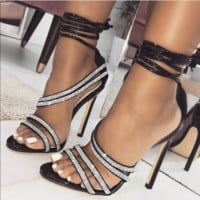 Hot style diamond with sexy fashion catwalk heels
