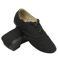 Womens Ballet Flats Lace Cutout Stitching Shoe Laces black