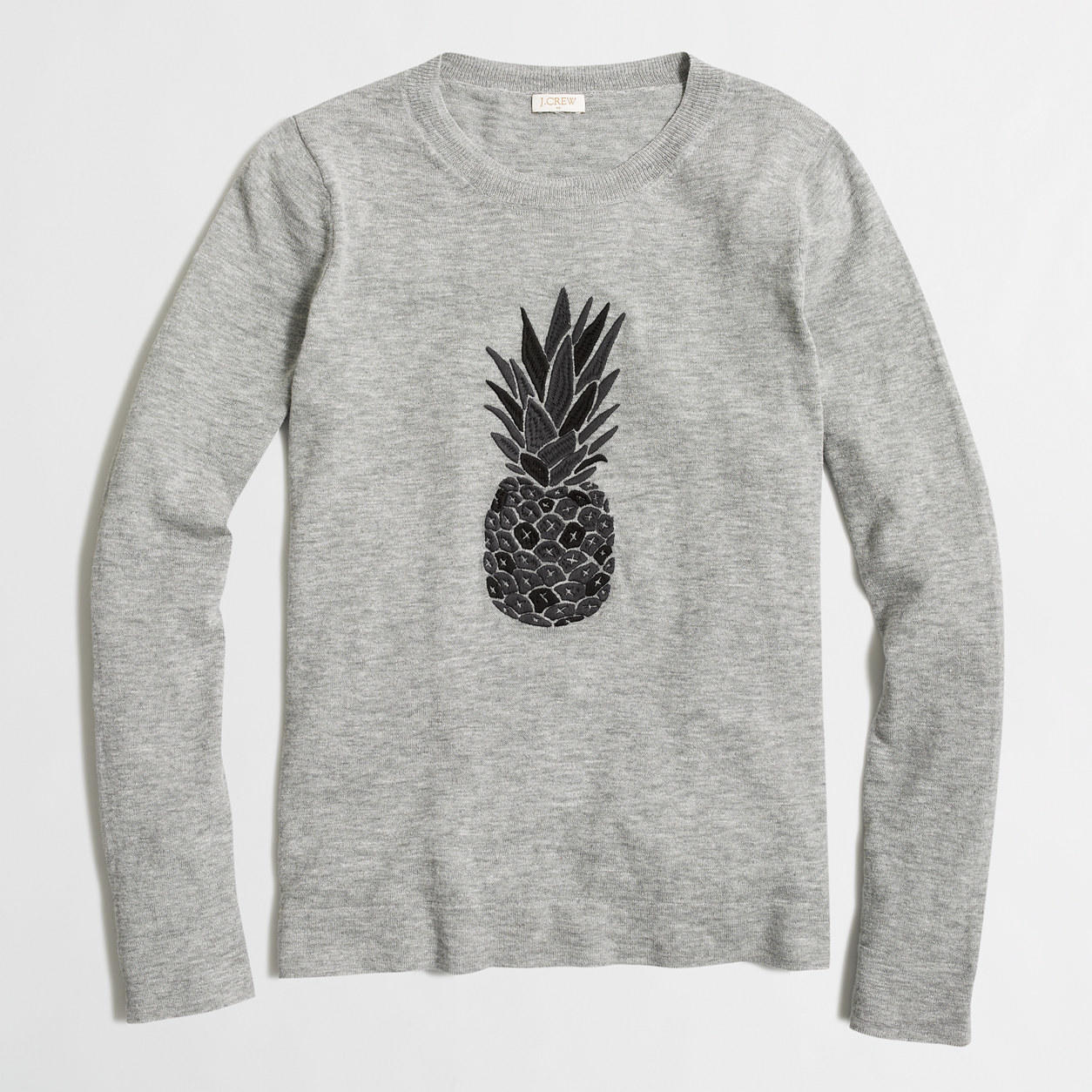 Factory embroidered pineapple sweater from J.Crew Factory