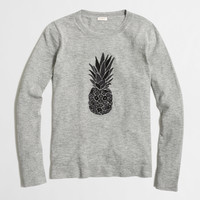 Factory embroidered pineapple sweater