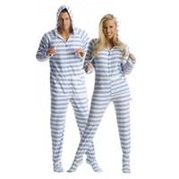 'Blue Steel' Adult Footed Onesuit Pajamas