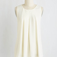 Mid-length Steadfast Class Top in Ivory