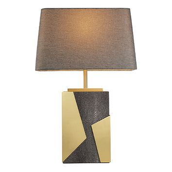 Brass Art Deco Table Lamp | Liang & Eimil Onxy
