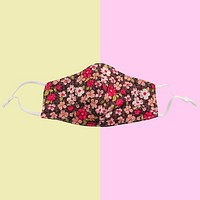 Cotton Fabric Reusable Washable Face Mask, Pink Flowers