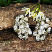Vintage Rhinestone Clip Earrings