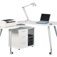 Techni Mobili Computer Desk in White Color