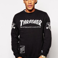 Thrasher street fashion men's and women's wild plus velvet sweater