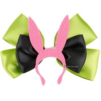 Licensed cool Bob's Burgers Louise Pink Bunny Ears Hat Cosplay Hair Bow Pin Clip Costume NEW