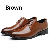 Luxury Brand Classic Pointed Toe Dress Mens Patent Leather Oxford Formal Shoes