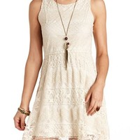 Fit and Flare Crocheted Lace Dress