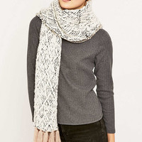 Diamond Knitted Fringe Scarf - Urban Outfitters