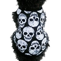 High Quality Pet T-Shirt Dog Clothes Apparel Costume Skull Clothing Summer Breathable Cozy Dog Clothes Sport Style Vest & BL11