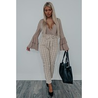 Tell Your Story Bodysuit: Taupe