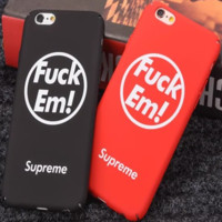 Personality Cool Letter Apple iPhone 6/6Plus Hard Shell Case iPhone 7 Couple Phone Case Set Two-Piece