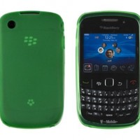 Green Frosted TPU Gel Case for Blackberry Curve 8520, 8530, 9300 (AT&T, Verizon, Sprint, T-Mobile)