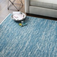 Painter's Cotton + Wool Rug - Aquamarine