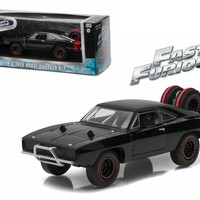 """Dom's 1970 Dodge Charger R-T Off Road """"Fast and Furious-Fast 7"""" Movie (2011) Diecast Model Car 1-43 by Greenlight"""