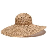 ále by Alessandra Hat | Open weave straw raffia hat | SolEscapes.com