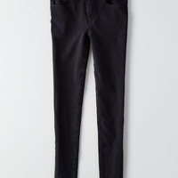 AEO Denim X4 Hi-Rise Jegging, Rich Onyx