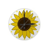 Sunflower Wall Clock from Zazzle.com