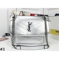 YSL 2019 new women's rhombic chain small square bag difference bag shoulder bag #3
