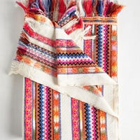 Boho Colorful Comfort Blanket by Karma Living from ModCloth