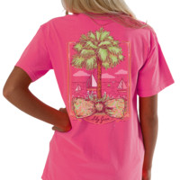 Lilly Grace Short Sleeve Tee- Palmetto Bow