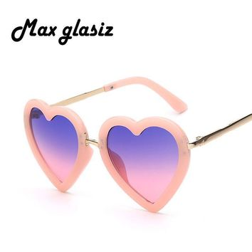 Baby Girl Accessories Heart Shaped Sunglasses With UV 400 Protection