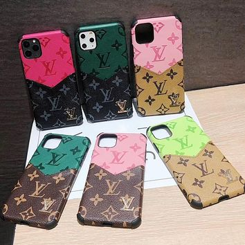 Letter LV Louis Vuitton new color matching printing couple iPhone case