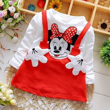 Baby Girls Dress Cute Minnie Autumn Sport Princess Party Clothing Vestido infantil Baby Born Christmas Dresses Baby Girl Clothes