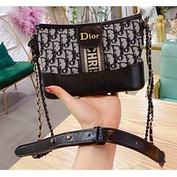 Dior Classic CD Embroidery Knitted Bucket Bag Ladies Shoulder Messenger Bag