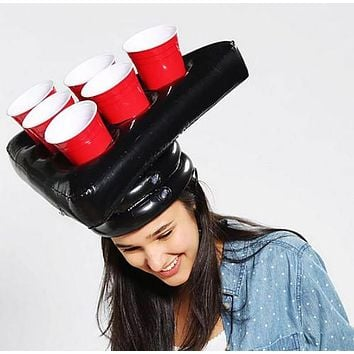 Beer Pong Inflatable Hat