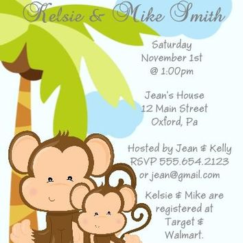 10 Safari Animals Baby Shower Invitations Many To Choose From