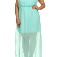 Plus Size Cecelia Chiffon Maxi Dress