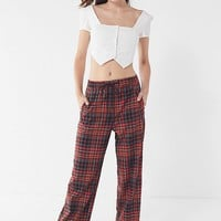 UO Plaid Pull-On Pant | Urban Outfitters