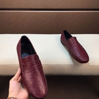 Gucci Men's Leather Fashion Loafers Shoes