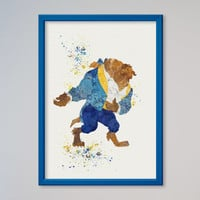 Beauty and the Beast Poster Disney The Beast Print Only Beast Only
