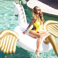 Giant Inflatable Unicorn Pegasus Pool Float