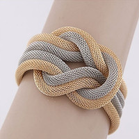 Fashion Design Simple Knitted Compilation Wrap Crossover Chic Bracelet Jewelry Bow = 1958178564
