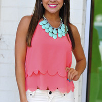 Half Shell Scallop Tank Top: Coral | Hope's